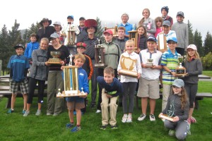 Junior members at the annual presentation.
